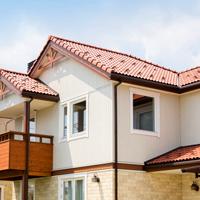 屋根の色ー茶色